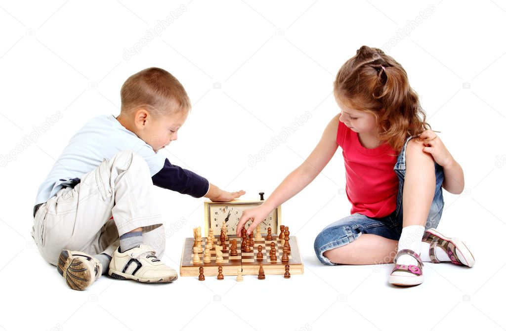 depositphotos 6208541 stock photo children playing chess